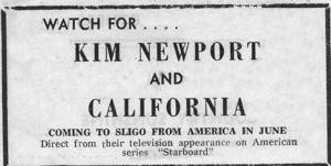 Kim Newport and California Ad 1st Appearance